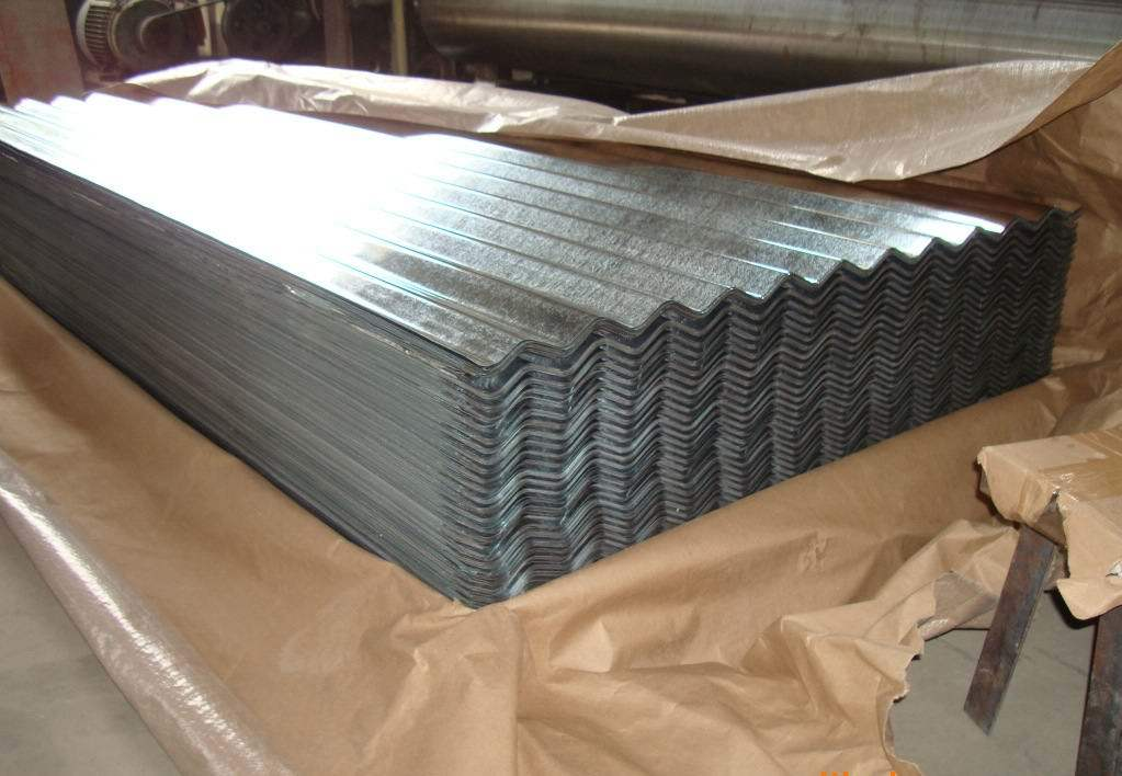China galvanized corrugated steel sheets china for Galvanized metal sheets for crafts