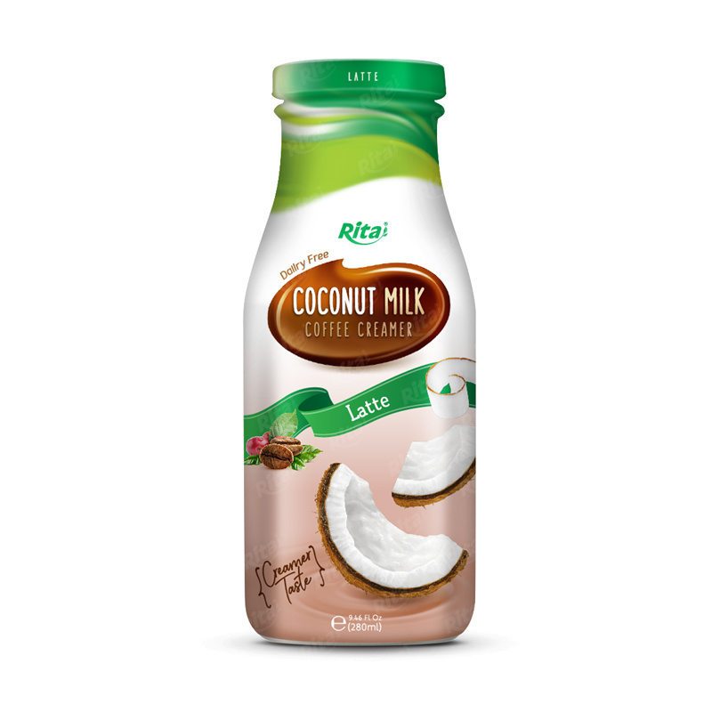 Supplier 280ml Glass Bottle Coconut Milk Ice Coffee Creamer
