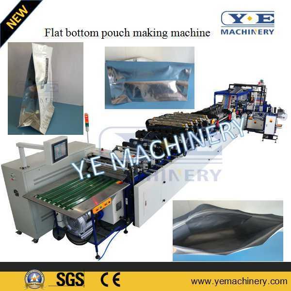 Eight Sides Seal Flat Bottom Zipper Pouch Making Machine