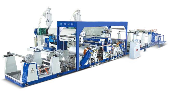 Double Mainframe Extrusion Film Laminating Machine Unit (SJFM1000-1800)