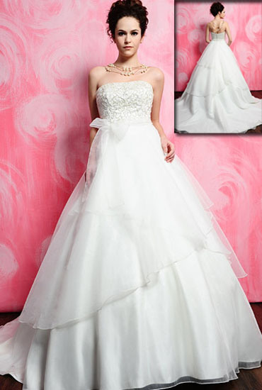 2011 Organza White Wedding Gown Hs202
