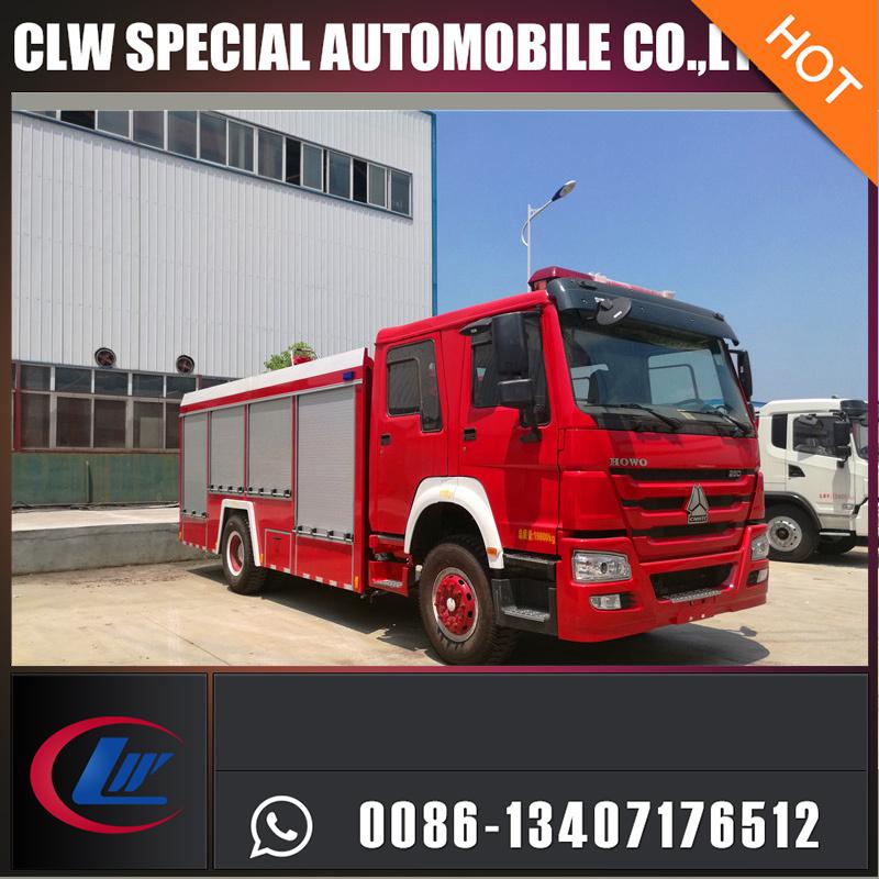 Bid Type 12000L Sinotruck Fire Extinguisher Foam Powder Water Tank Fire Fighting Truck