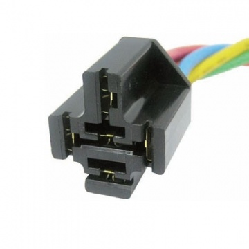 ignition relay question be using a five pin harness in which case there would be no mistake as to the color codes etc do you see a harness connector like this one below