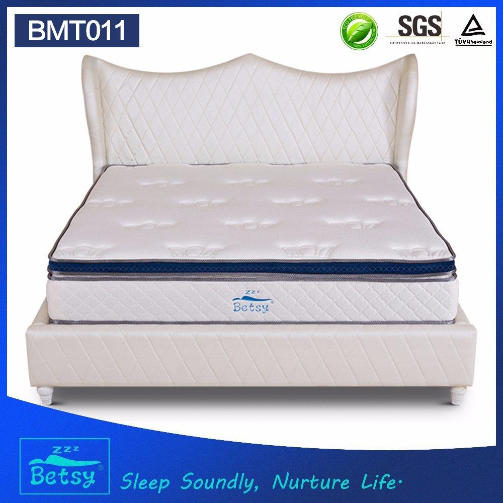 OEM Compressed Pocket Spring Mattress 28cm Box Top Design with Gel Memory Foam and Massage Wave Foam