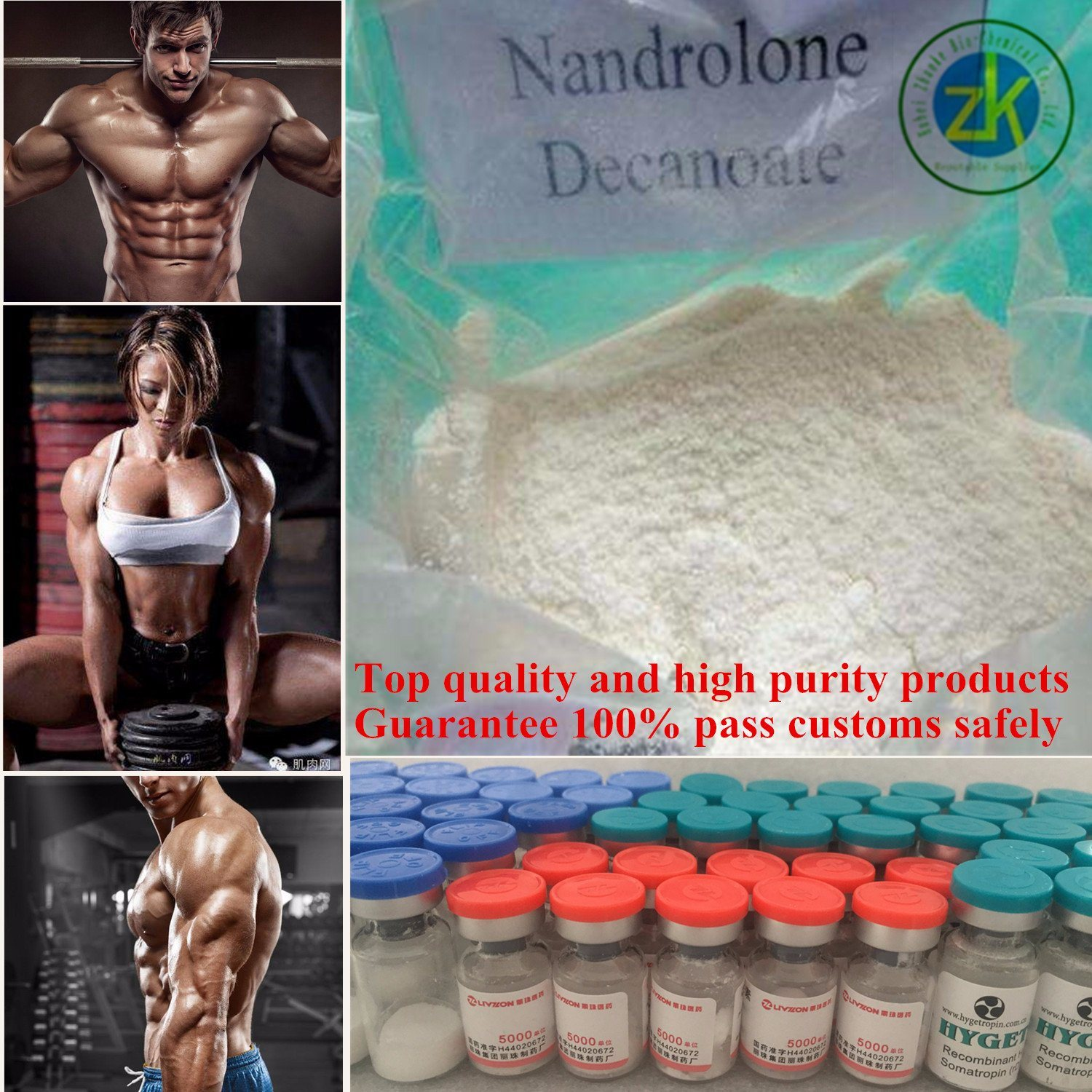 Muscle Anabolic Steroid Nandrolone Decanoate Drugs Powder 99%