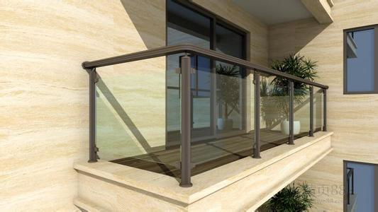 Bronze Color Aluminium Glass Fencing Balcony for Your Home