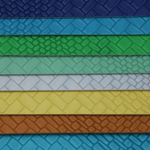 Soft Durable Synthetic Woven Handbags Leather (H1552)