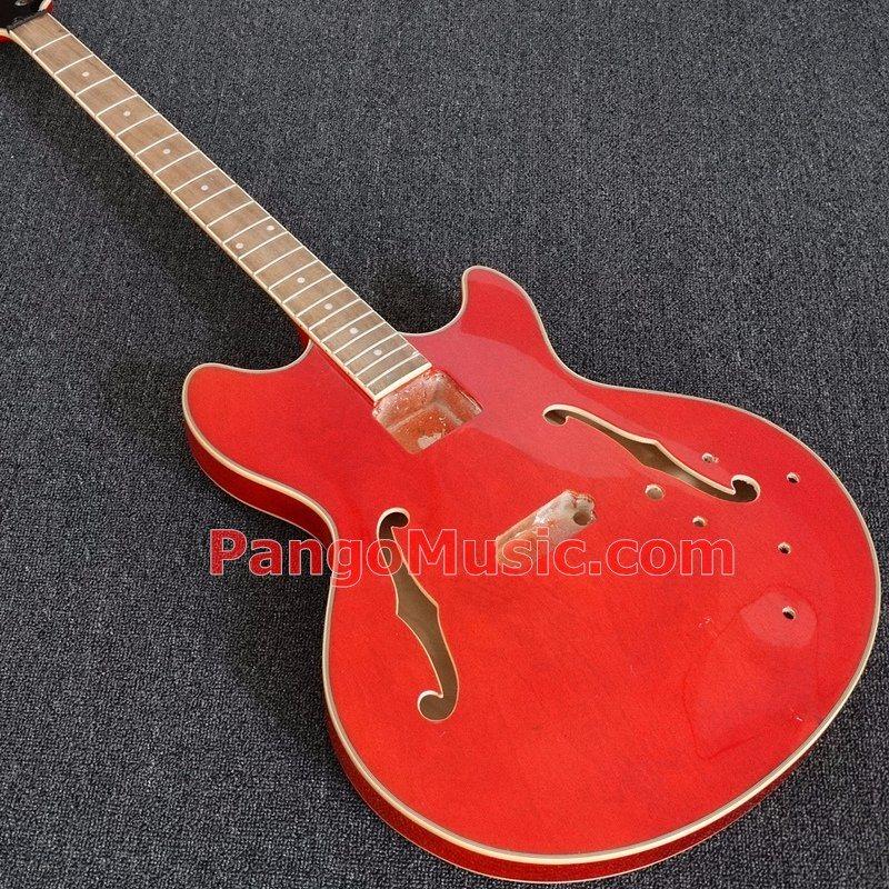 Pango Music 4 Strings Semi-Hollow Body Jazz Electric Bass Guitar (PHB-525)