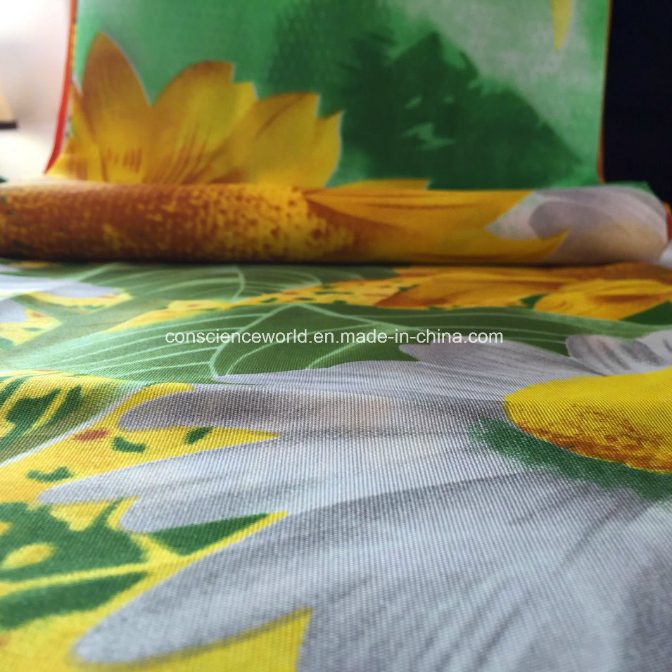 100%Polyester 60GSM144f Pigment Printed Fabric for Comforter Set