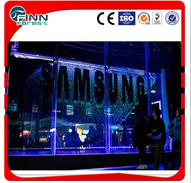 Display Image Water Fountain Digital Control Indoor Water Curtain