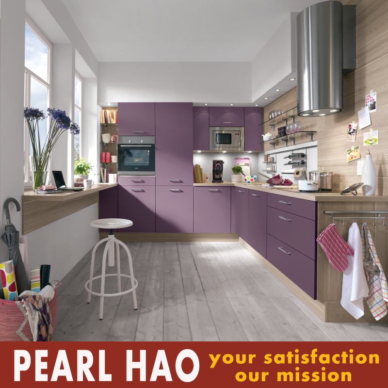 Burundi Market Purple Melamine Wood Kitchen Cabinets