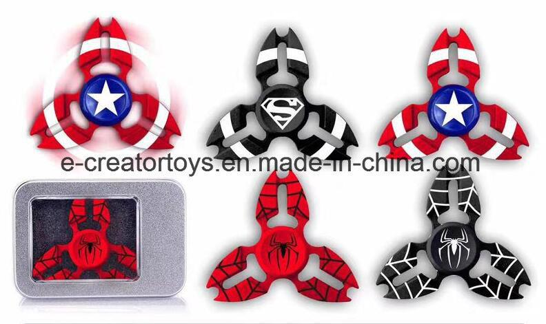 Fashionable Aluminium Alloy Hand Spinner /American Captain / Iron Man / Spiderman Styles