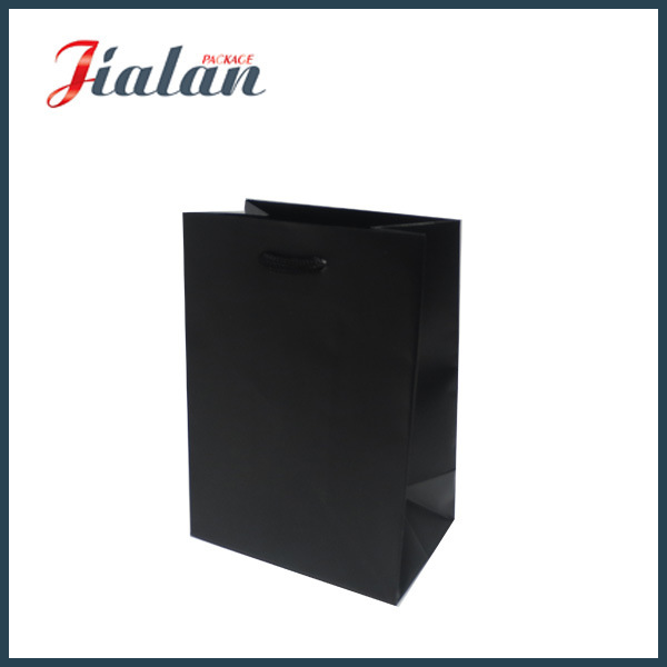 Paper Shopping Gift Bags Laminated Factory Price Black Color