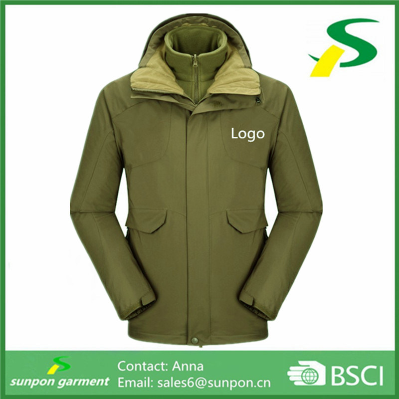 High Quality Winter 3- in- 1 Men′s Jacket