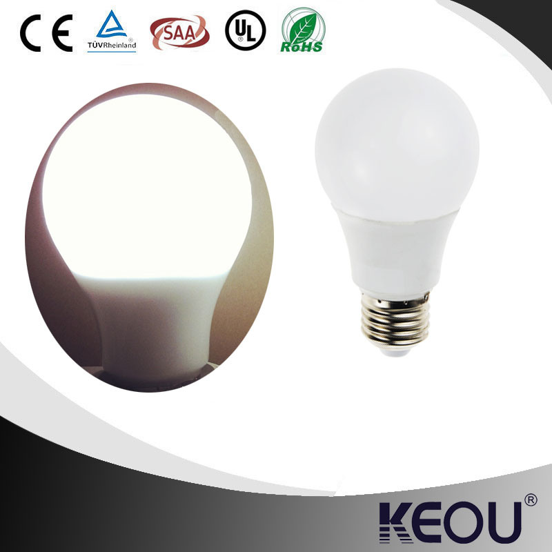 A60 A19 E27 LED Bulb with Plastic and Aluminum Material