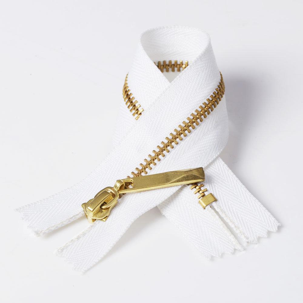 No. 3 Metal Brass Closed Bottom Purses Zipper