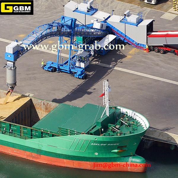 300-1800t/H Continuous Ship Loader on Dock