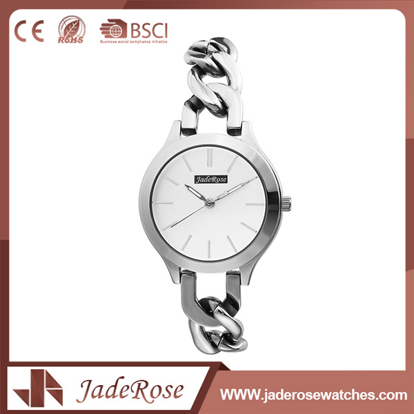 Women Stainless Steel Back Classic Quartz Watch with Waterproof