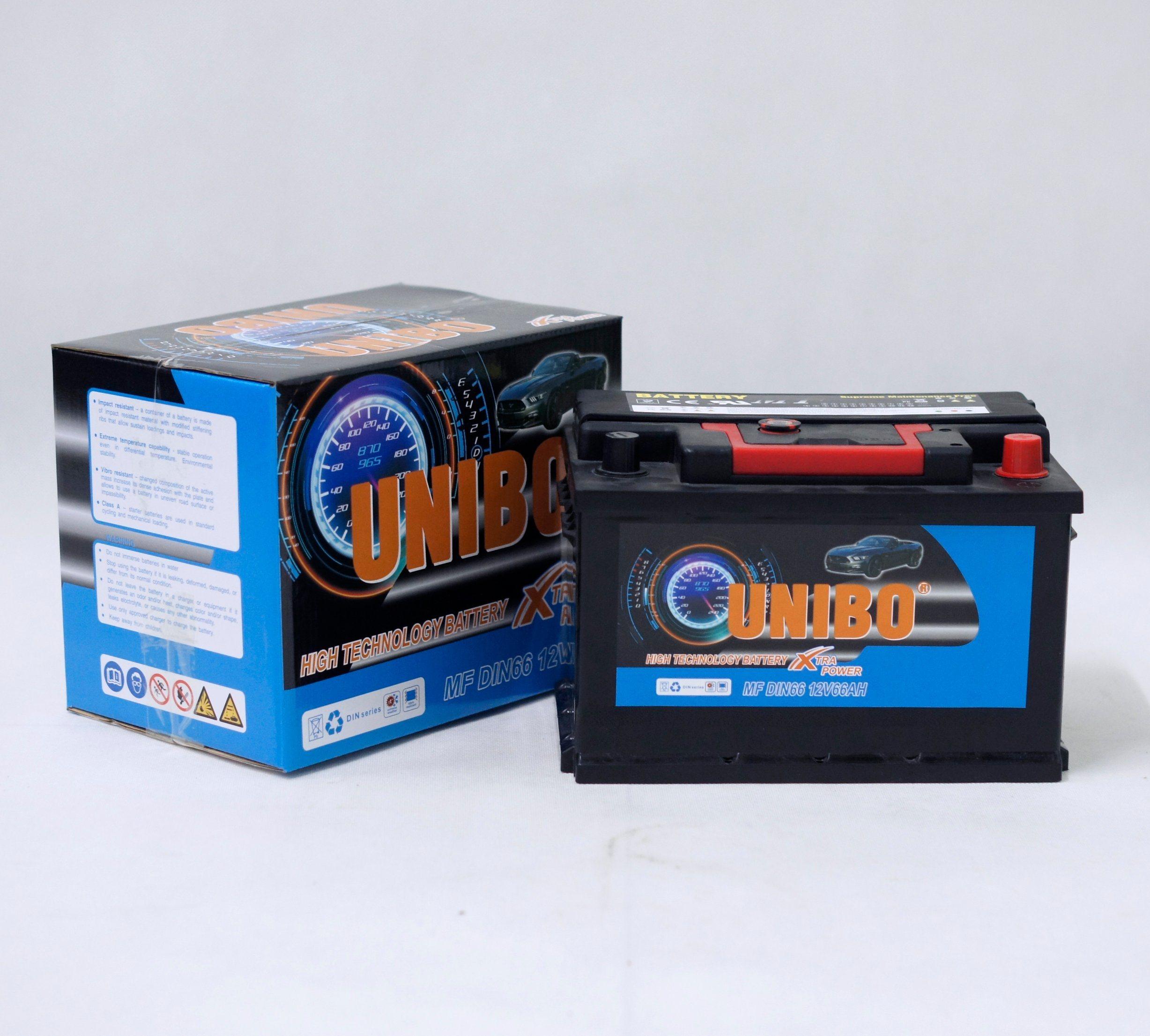 Maintenance Free Auto Battery DIN66 12V66ah High Performance Car Battery