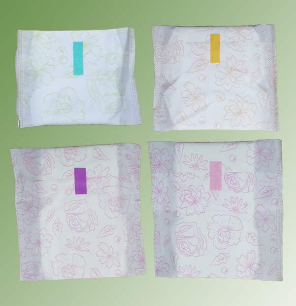 350mm Anti Bacterial Comfortable Sanitary Pad with Colorful Individual Wrap