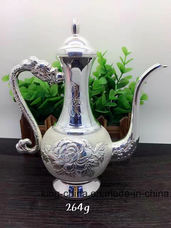 99 Fine Silver Longfeng Hip Silver Wine Boutique High-End Authentic Guarantee Factory Direct Sale