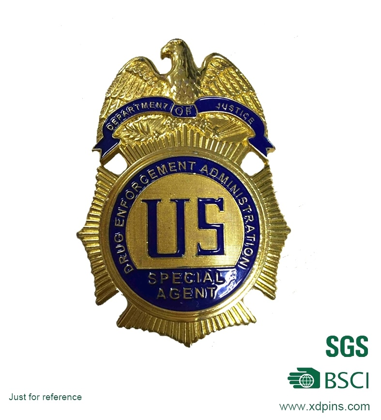 Customized High Quality Hard Enamel Police Badge Pin (XDBGS-317)