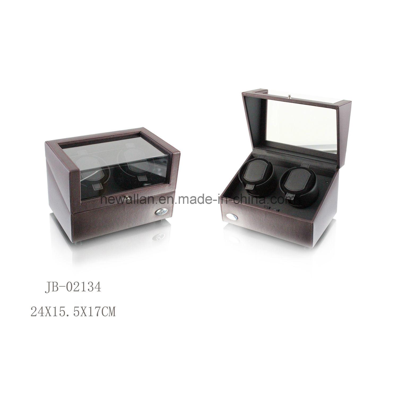 Black Leather 2PCS Watch Display Storage Box Watch Winder Reviews