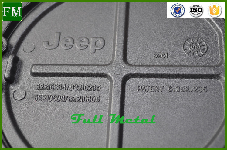 Black Powder-Coated Fuel Tank Door Cover for Jeep Wrangler
