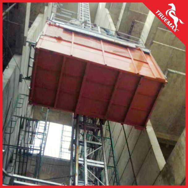 Truemax Ce Approved Single Cage Painting Mast Section Passenger Hoist
