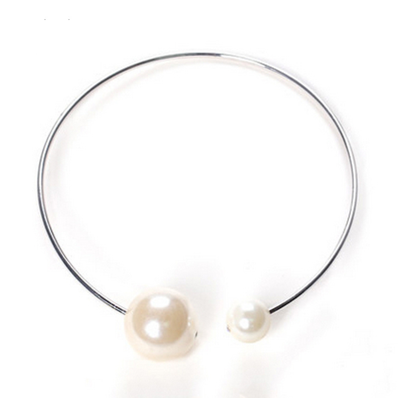 2017 Fashion Collar Accessories Big Imitation Pearl Statement Necklace Jewellery