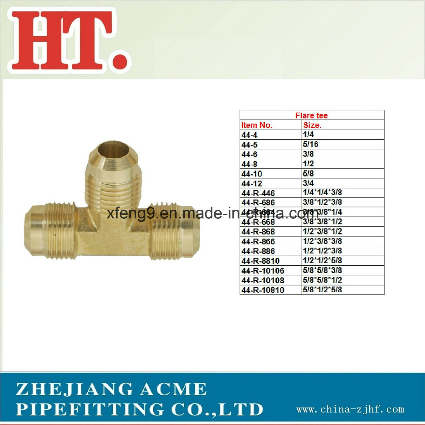 Us Brass Flare Tee Fitting