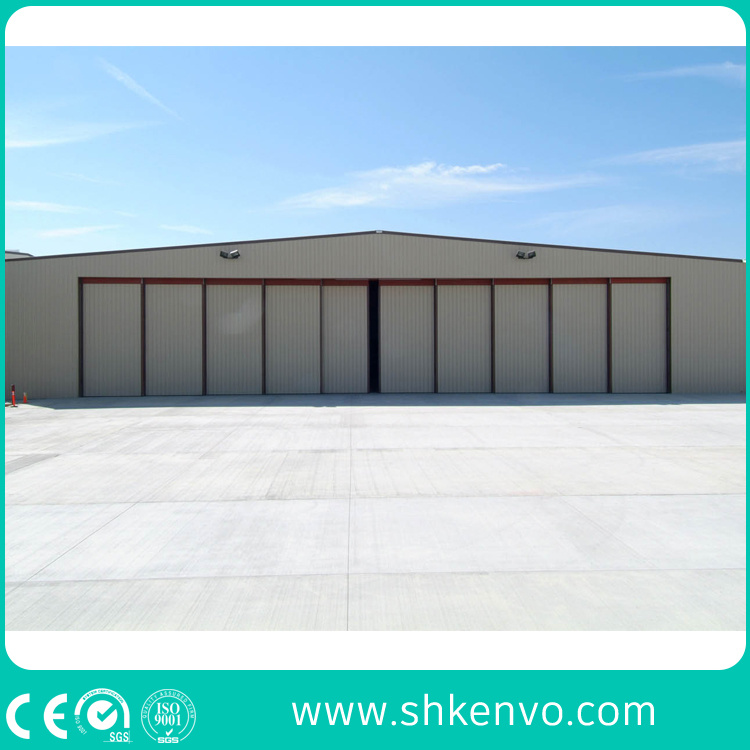 PU-Panel Automatic Sliding Aircraft Hangar Door