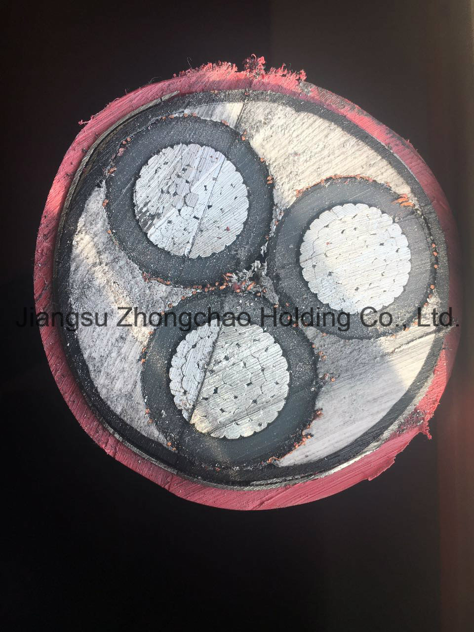 Al/XLPE/Cws/Sta/PVC Red 8.7/15kv Power Cable 3*500