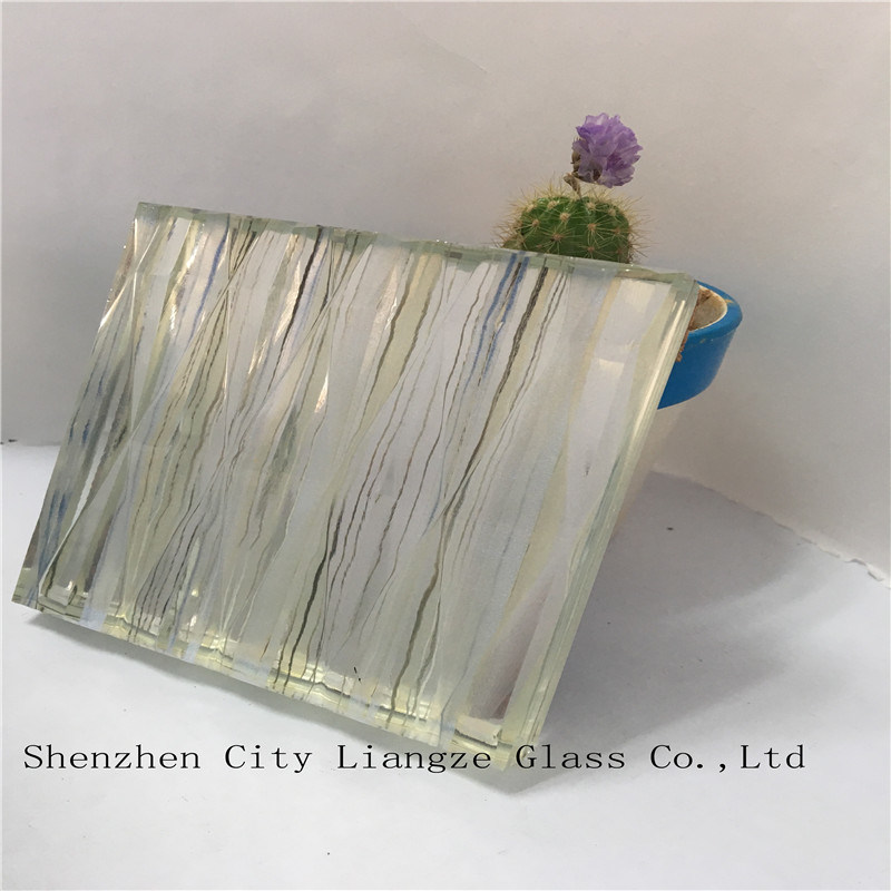 5mm+Silk+5mm Safety Laminated Glass/Craft Glass/Tempered Glass for Decoration&Building