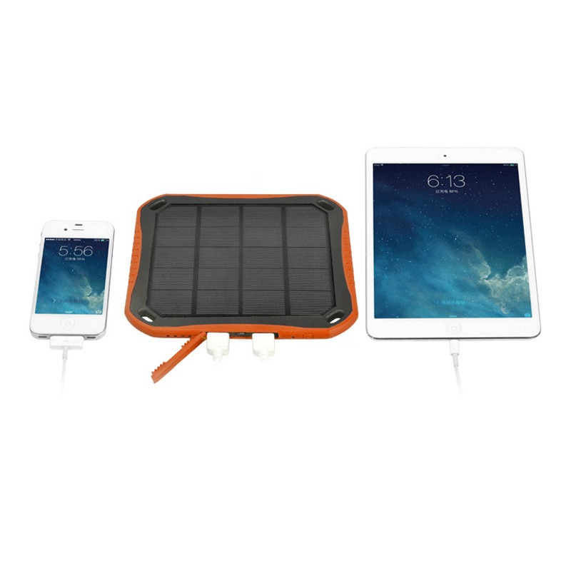 Window Dual 5V 2.1A USB Ports Solar Charger 5600mAh Power Bank