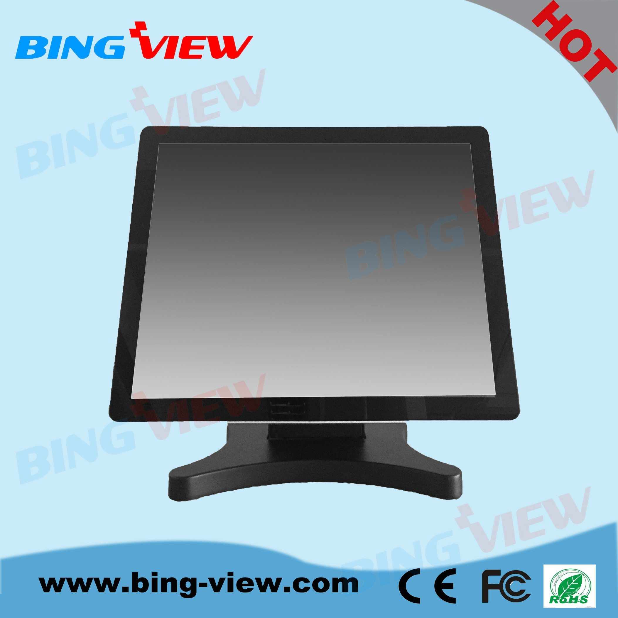 "4: 3 19"" True Flat Design POS Desktop Multiple Touch Screen Monitor"
