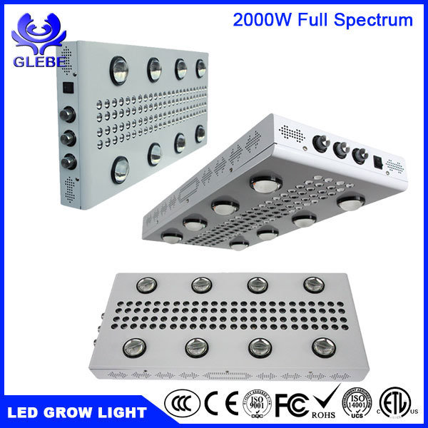 LED Grow Light Plant Lamp for Indoor Plants 0-100% Dimmable WiFi Control 1000W 1500W 2000W High Power