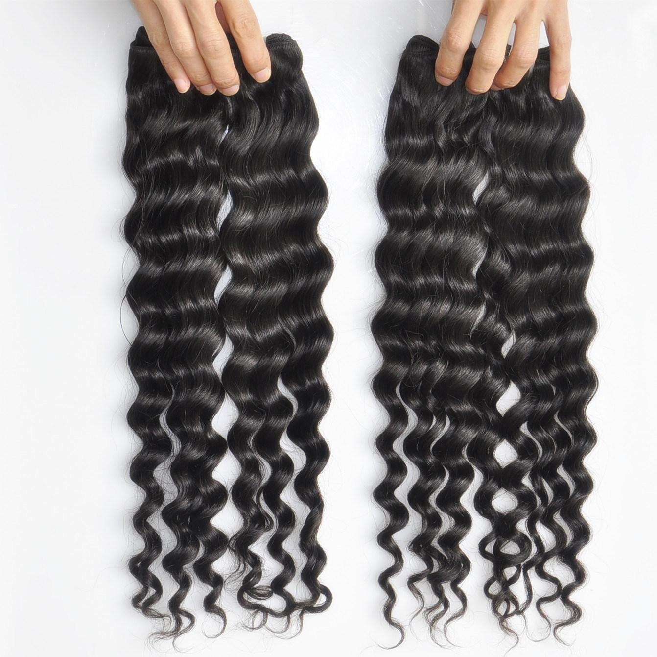 Labor Hair Products Brazilian Hair Weave Bundles Deep Wave Virgin Hair 105g/Piece Top Human Hair Weave Bundles