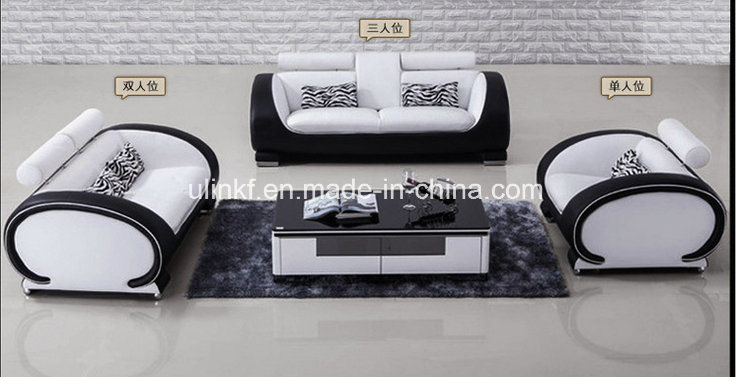 Modern Living Room Furniture Hotel Reception Leather Sofa (HX-SN045)