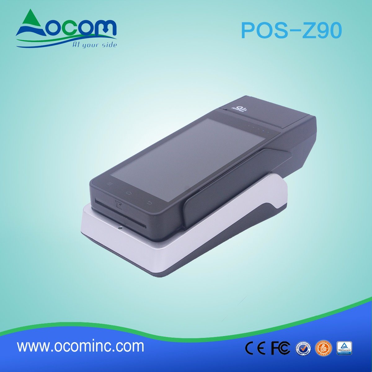 (POS-Z90) Android Handheld POS Terminal with 58mm Thermal Printer