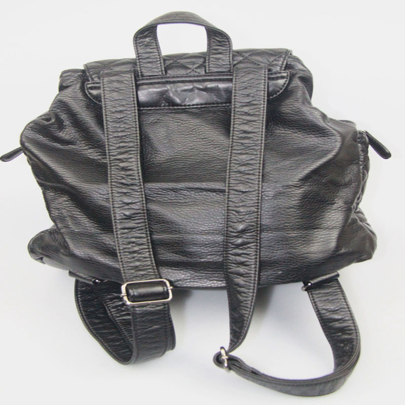 Ladies Washed PU Backpack Casual Leisure Backpack