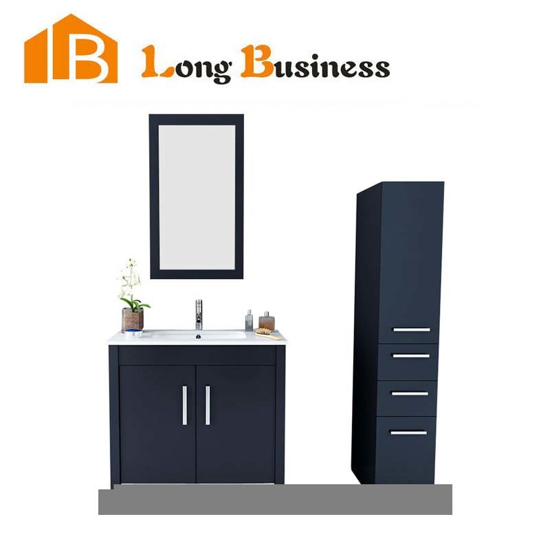 images of Black Popular Melamine Bathroom Vanity for Sale LBJX2235