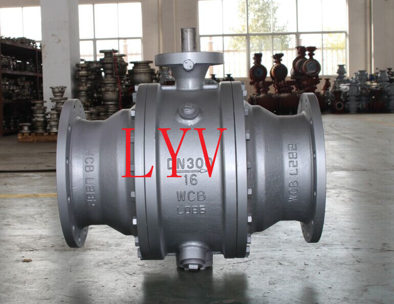 Top Entry Worm Gear Trunion Ball Valve
