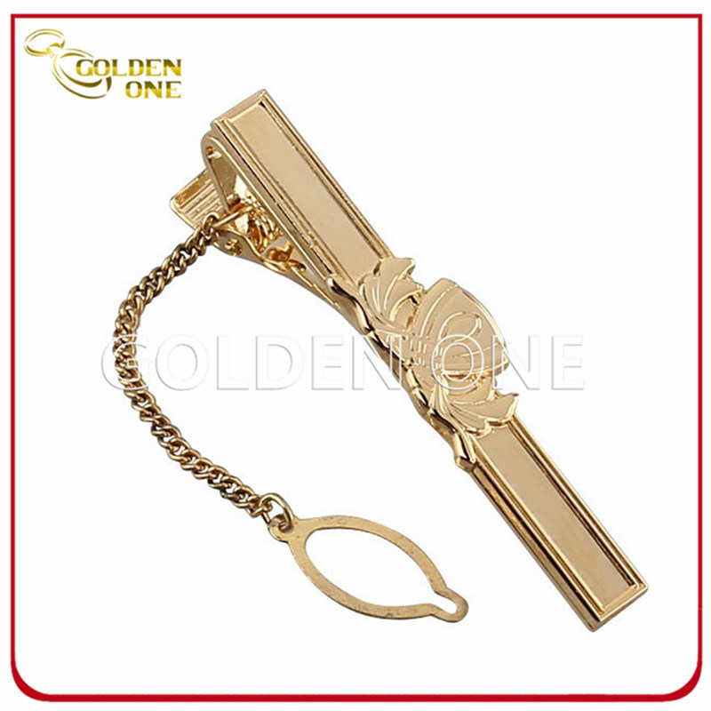 Personalized Gold Plated Soft Enamel Metal Tie Clip