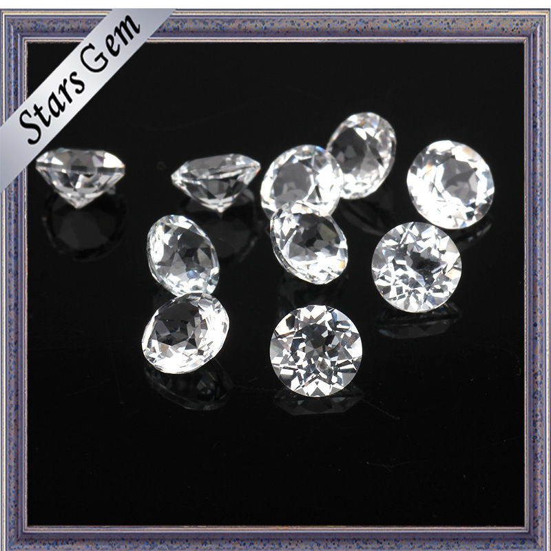 1-3mm Wuzhou Factory Price Natural Cut White Topaz