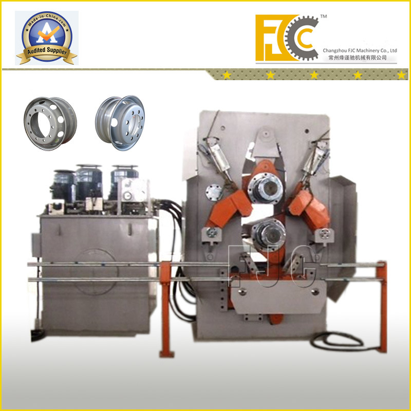 Hydraulic Agricultural Tractor Tubeless Steel Wheel Plate Rolling Making Machine Line
