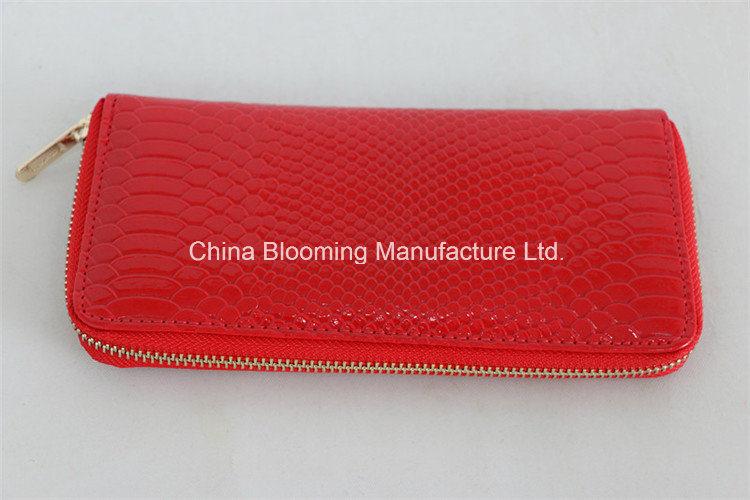 Lady Women Zip Pouch Wallet PU Fashion Phone Card Handbag