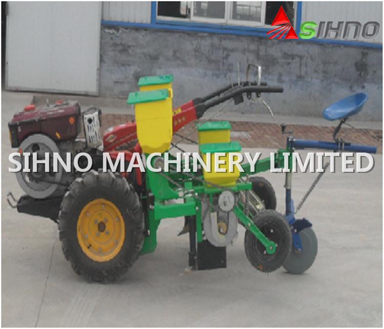 2 Rows Mini Manual Corn Seeder for Walking Tractor