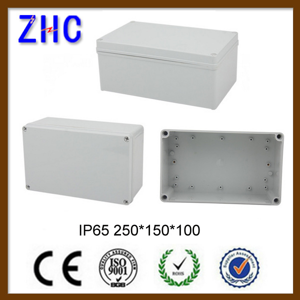 250*150*100 Rectangle Waterproof Light Gray Plastic Junction Box Case