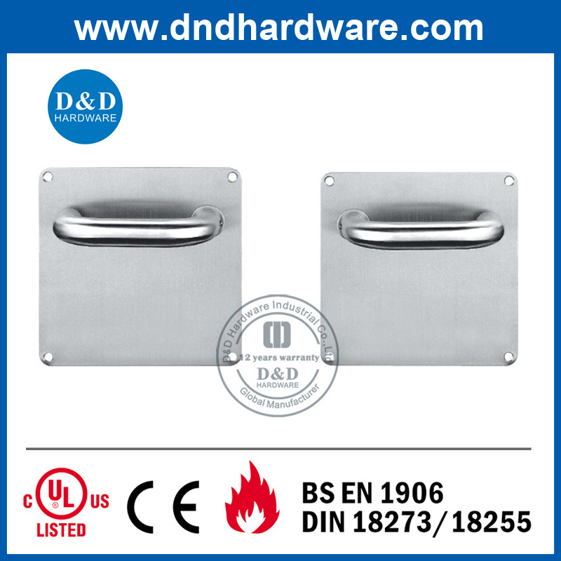 Ss 304 Lever Handle on Back Plate 170X170mm